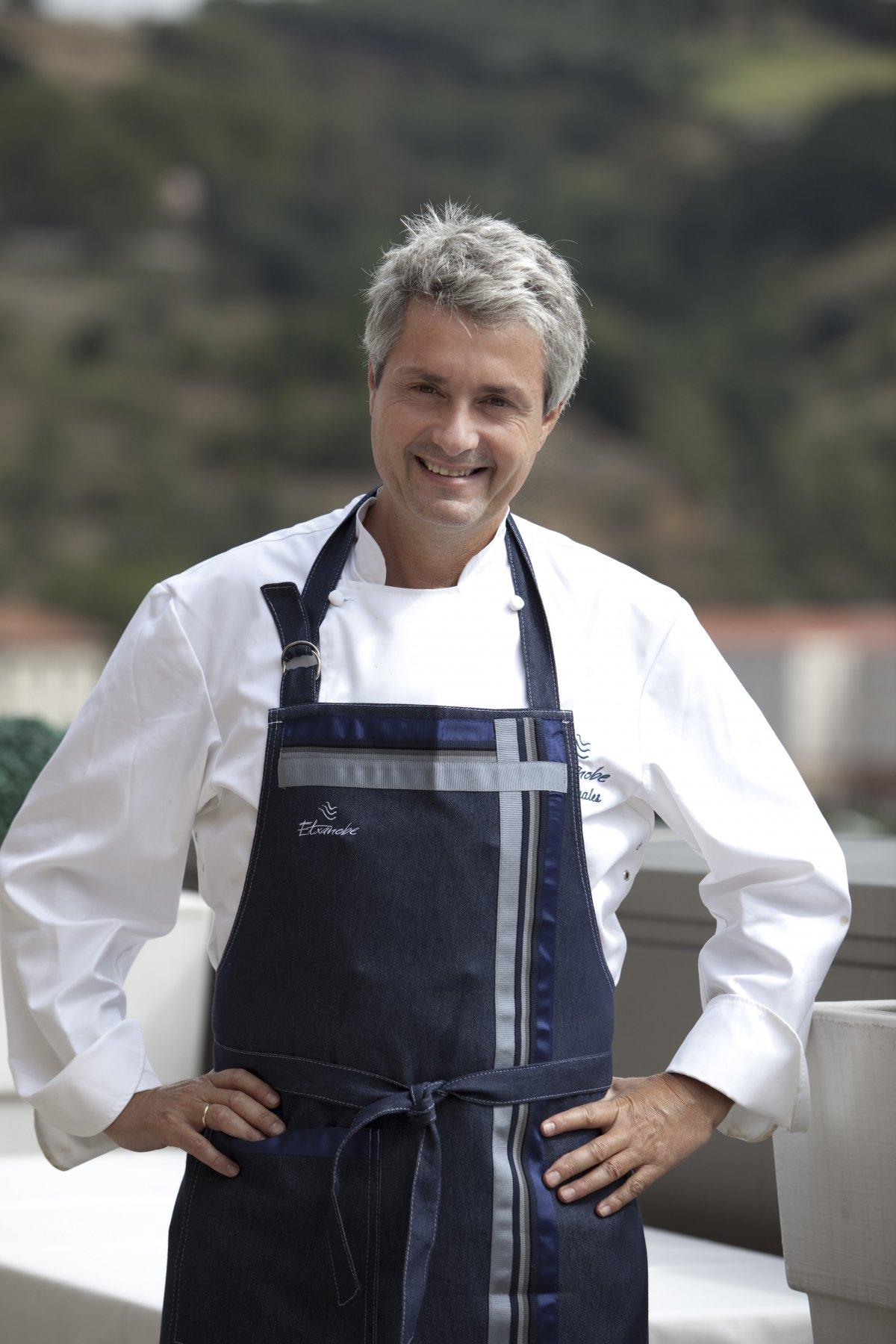 Retrato del chef Fernando Canales de Etxanobe