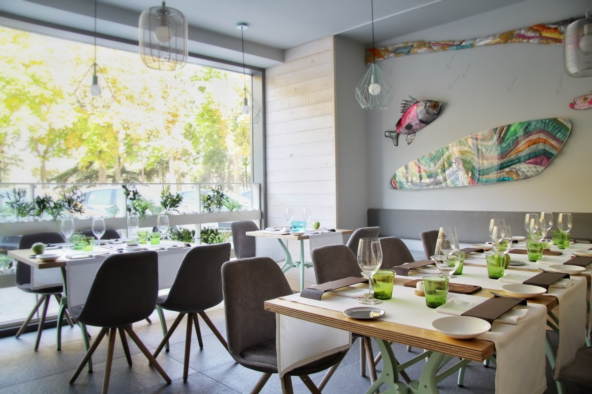 Sala del restaurante COBO vintage