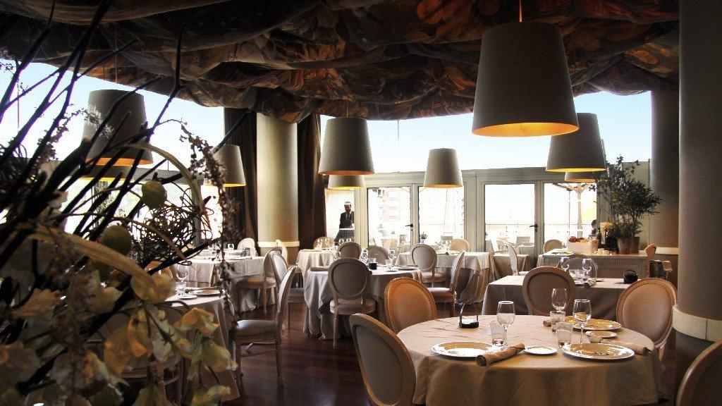 Sala del restaurante Etxanobe