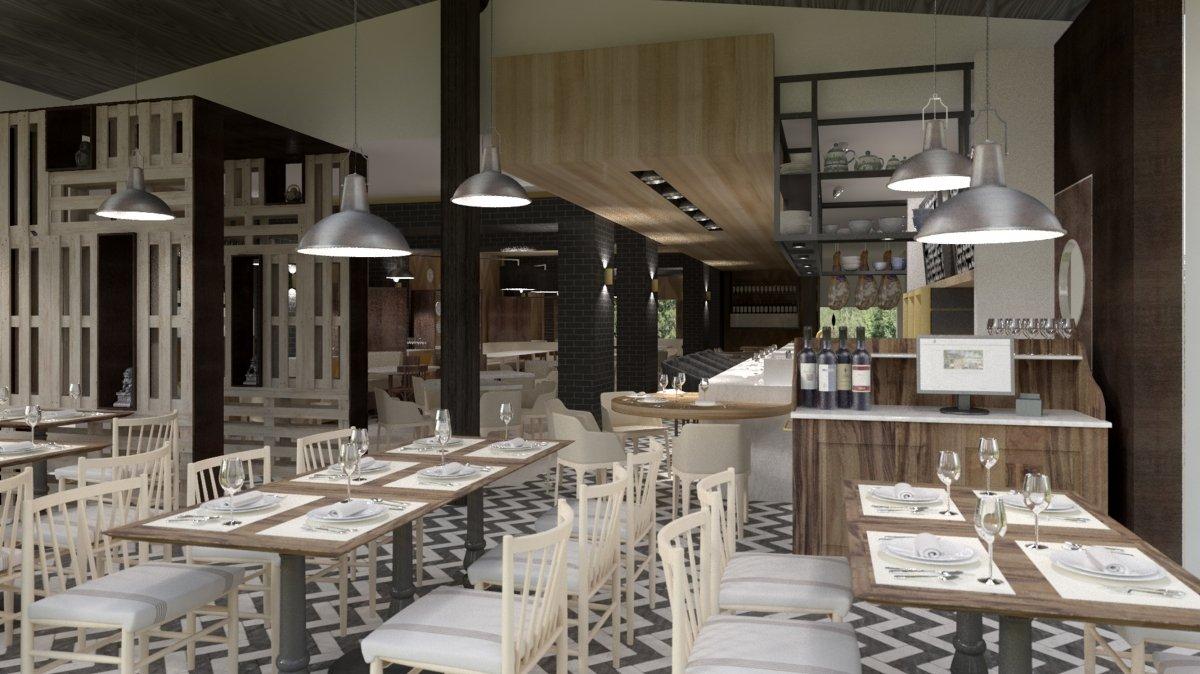 Sala del restaurante Txoko
