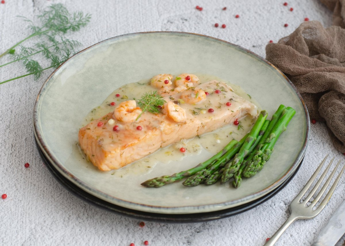 Salmón en salsa verde
