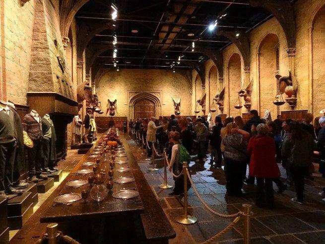 Salón de banquetes en Hogwarts