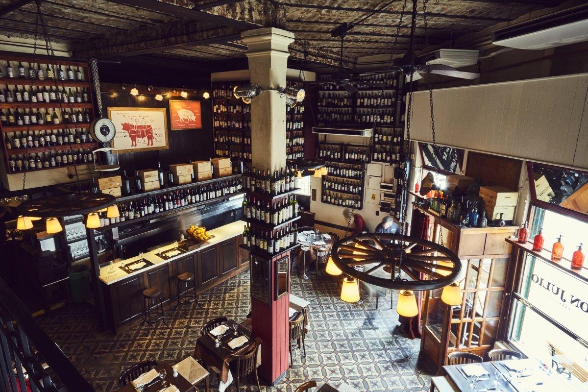 Salón del restaurante Don Julio