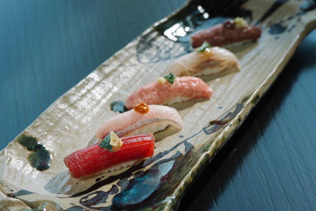 Selección de nigiris del restaurante Kabuki Abama