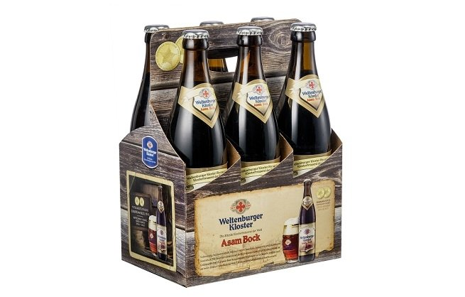 Six pack de botellas de Asam Bock