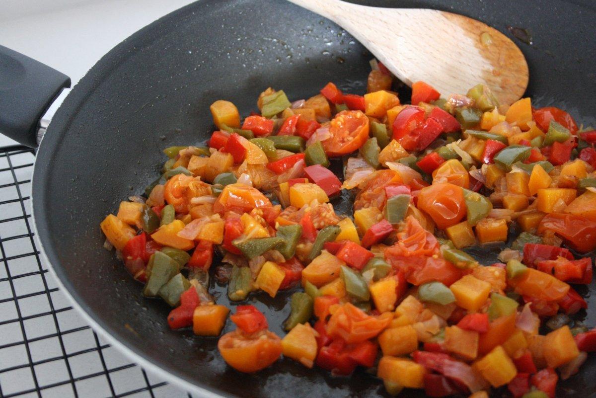 Sofreir las verduras