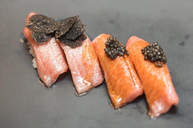Sushi en el restaurante Óleo