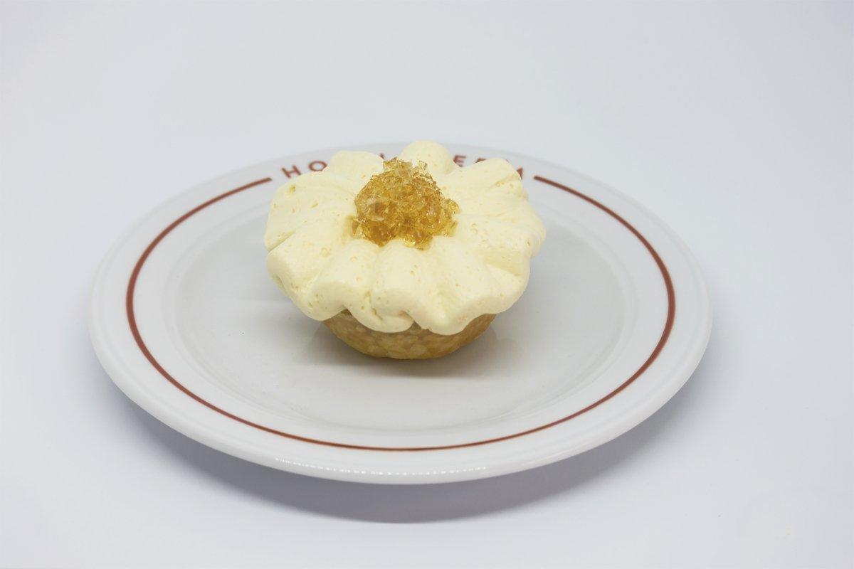Tartaleta de naranja con gelatina de brandy del restaurante Hojaldrería