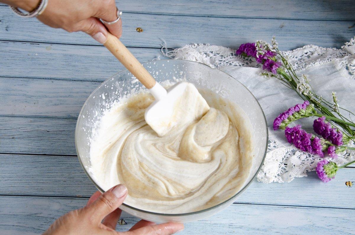 Tenemos lista la crema del helado de plátano