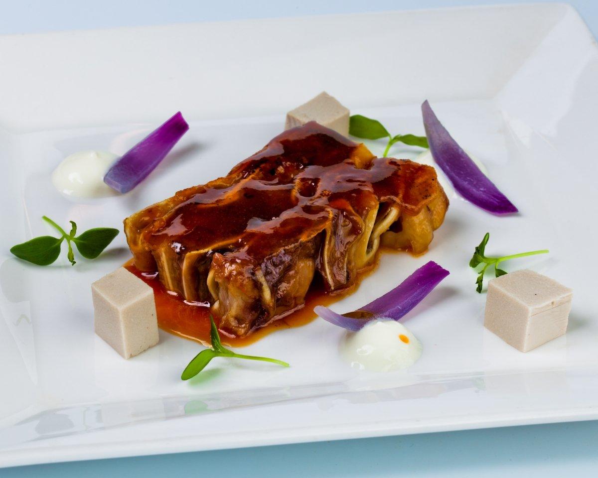 Terrina de oreja de cerdo del Restaurante Andra Mari