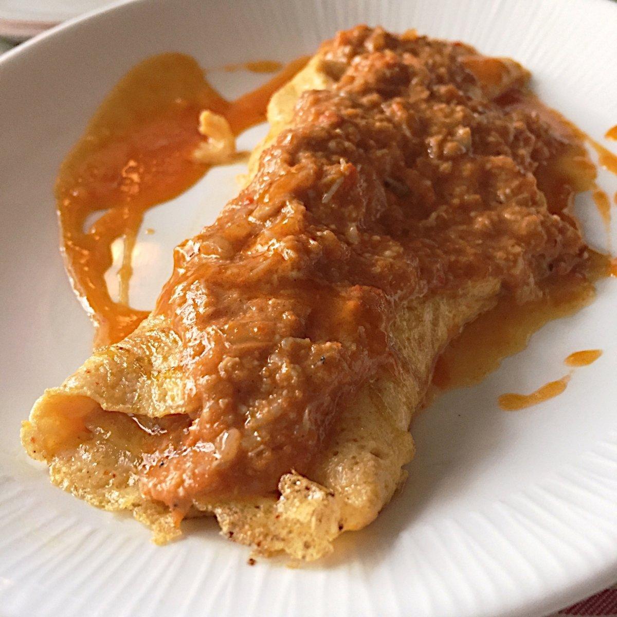 Tortilla de txangurro del restaurante La Cosmopolita