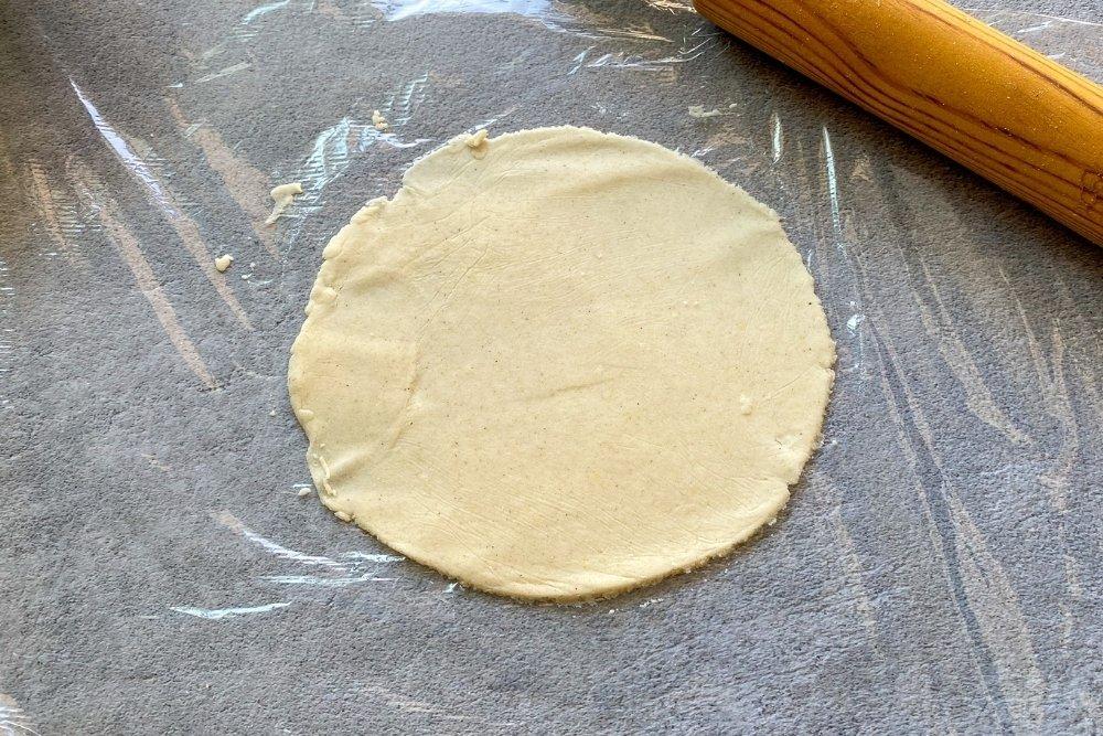Tortilla mexicanas de maíz formada
