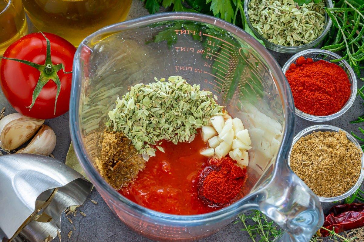 Triturar la salsa gaucha
