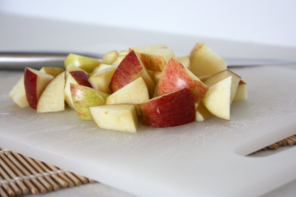 Trocear la manzana