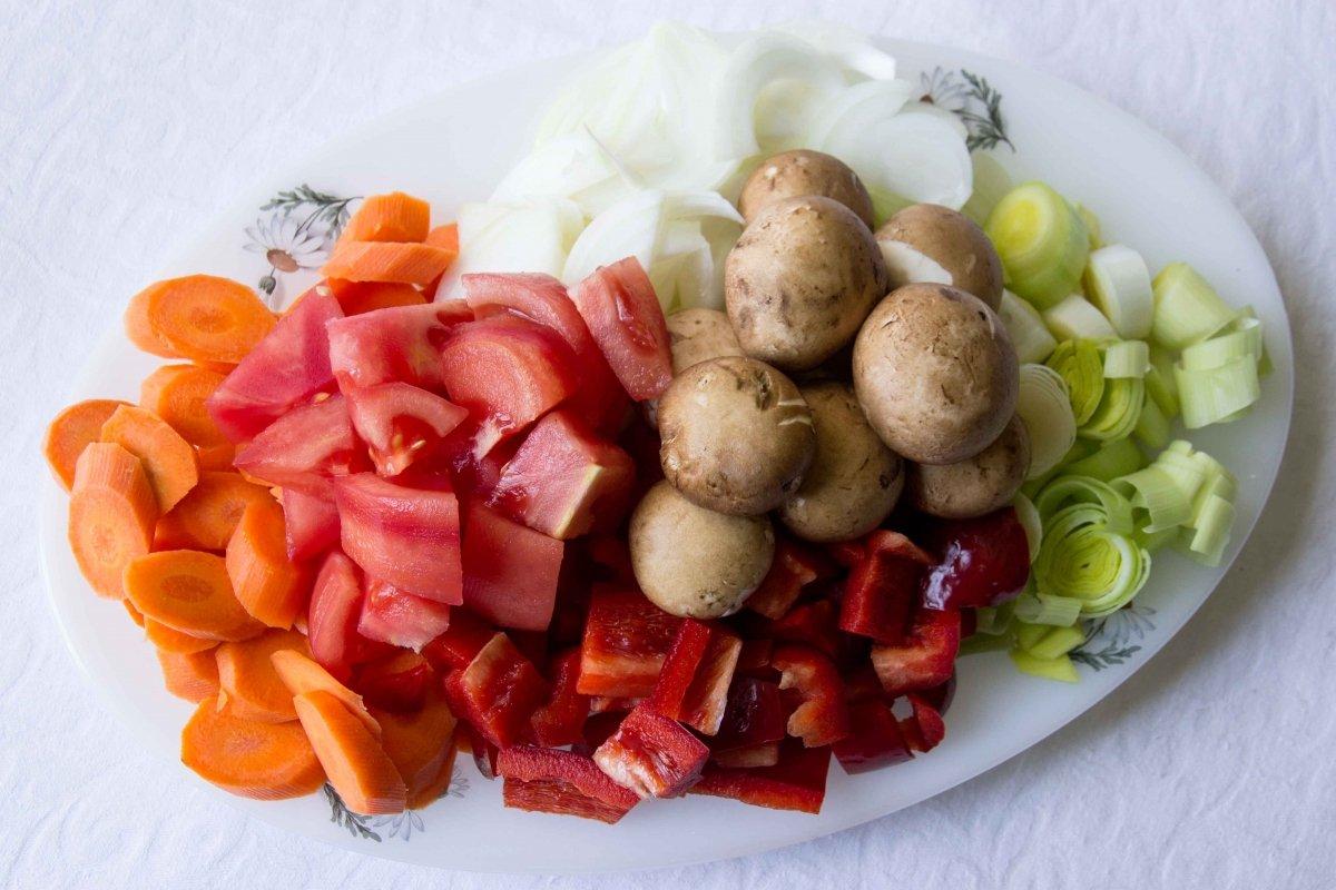 Trocear las verduras