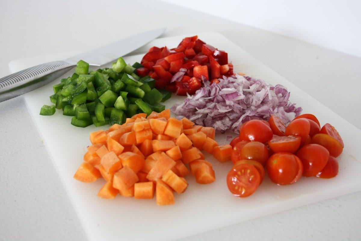 Trocear todas las verduras