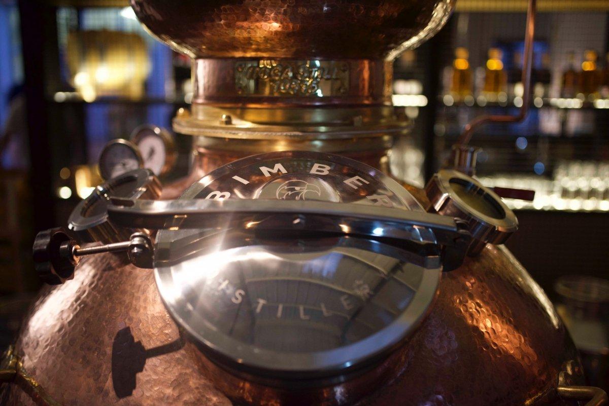 Un alambique de Bimber Distillery
