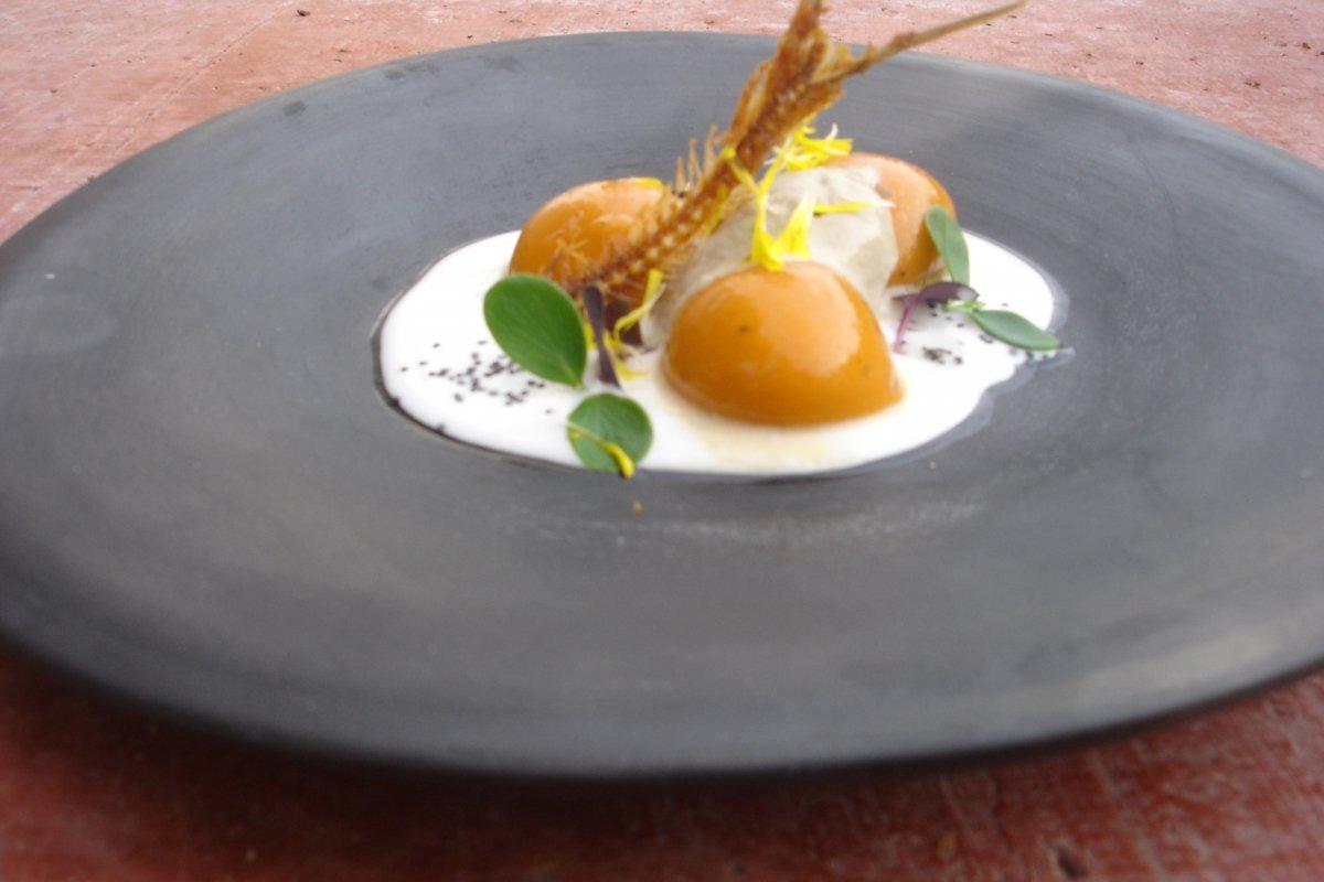 Un creativo plato del restaurante Malena