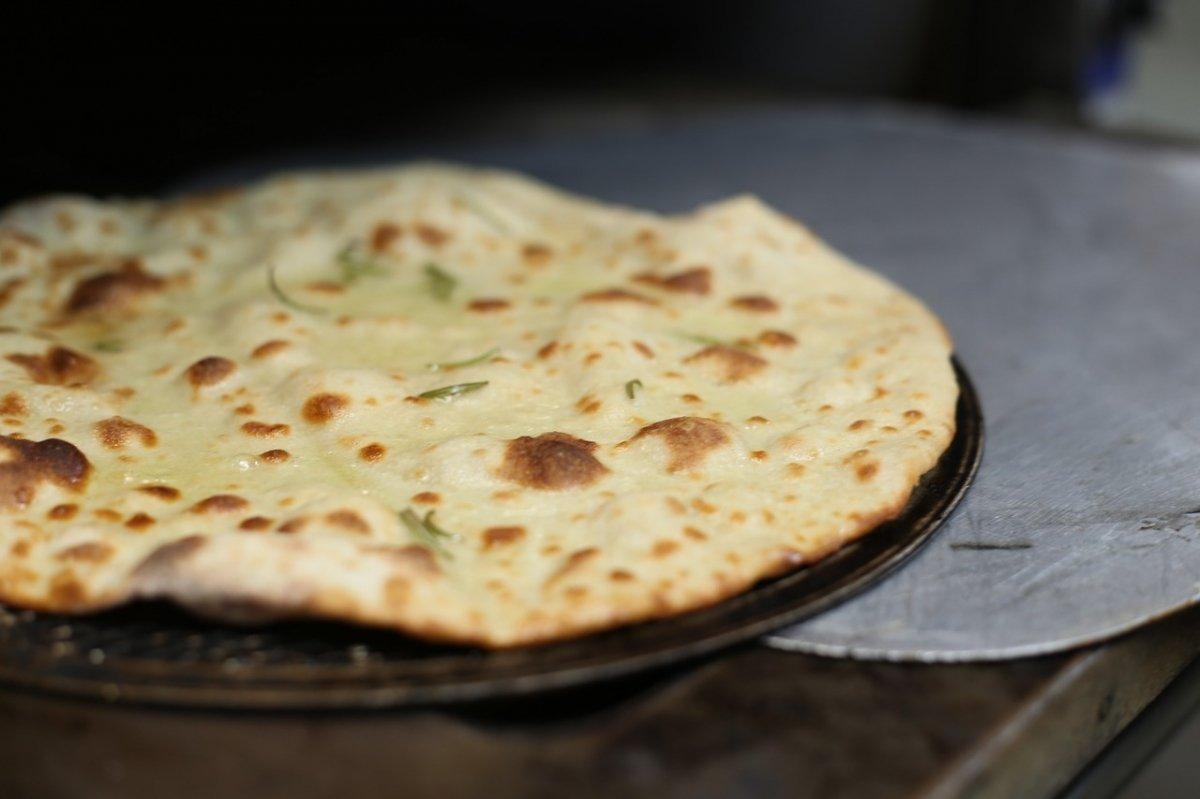 Un pan plano, antecesor de la pizza italiana