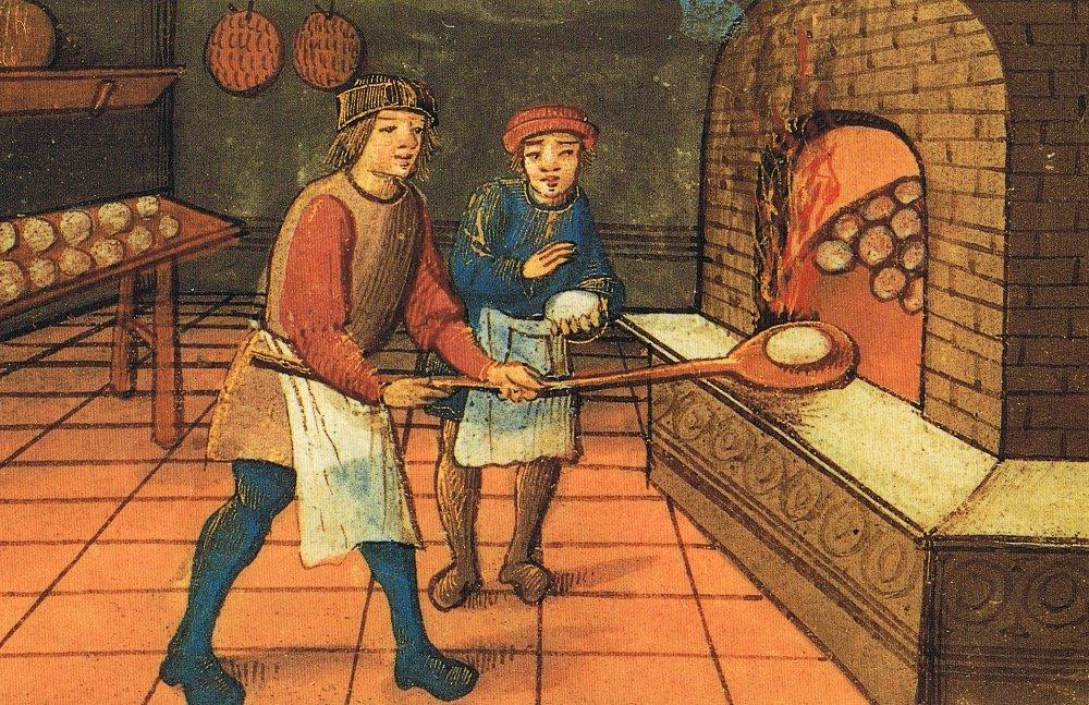 Un panadero medieval