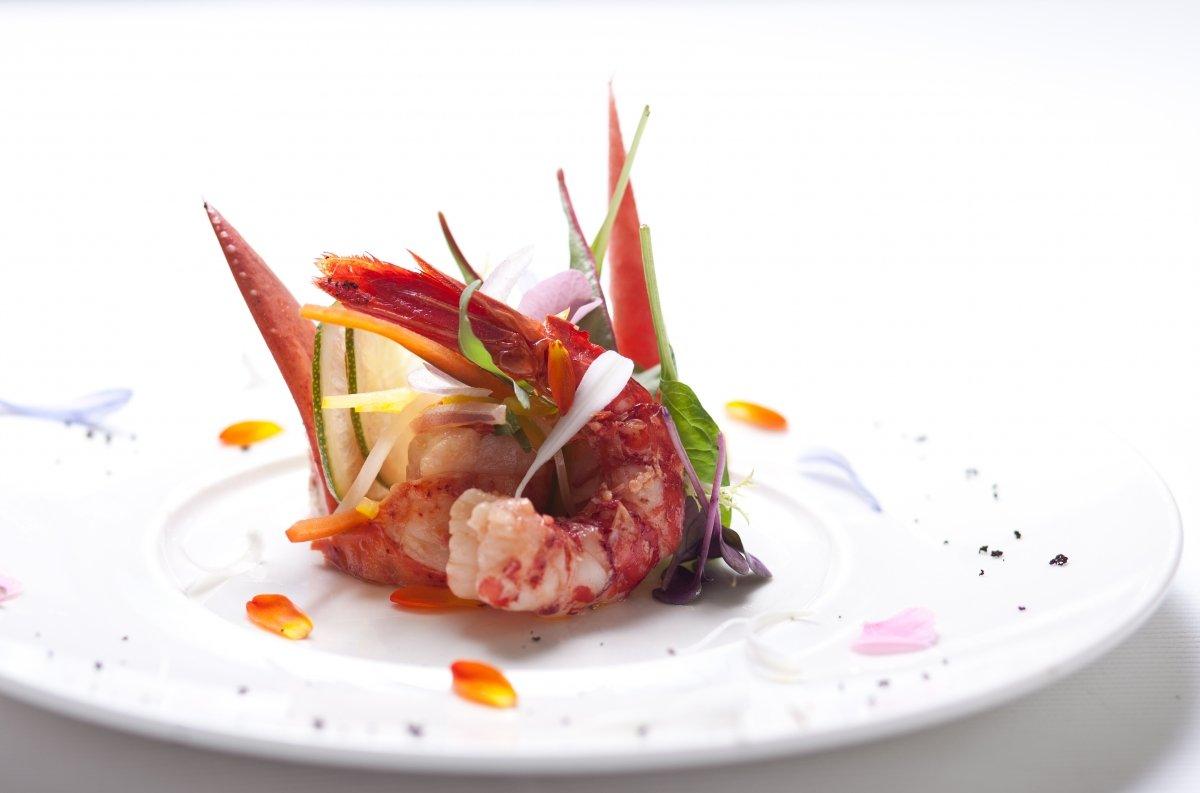 Un plato con marisco del restaurante Rekondo
