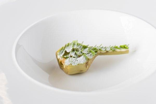 Un plato de alcachofa de La Biblioteca
