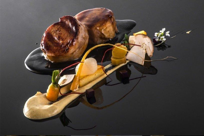 Un plato de carne del restaurante Boroa