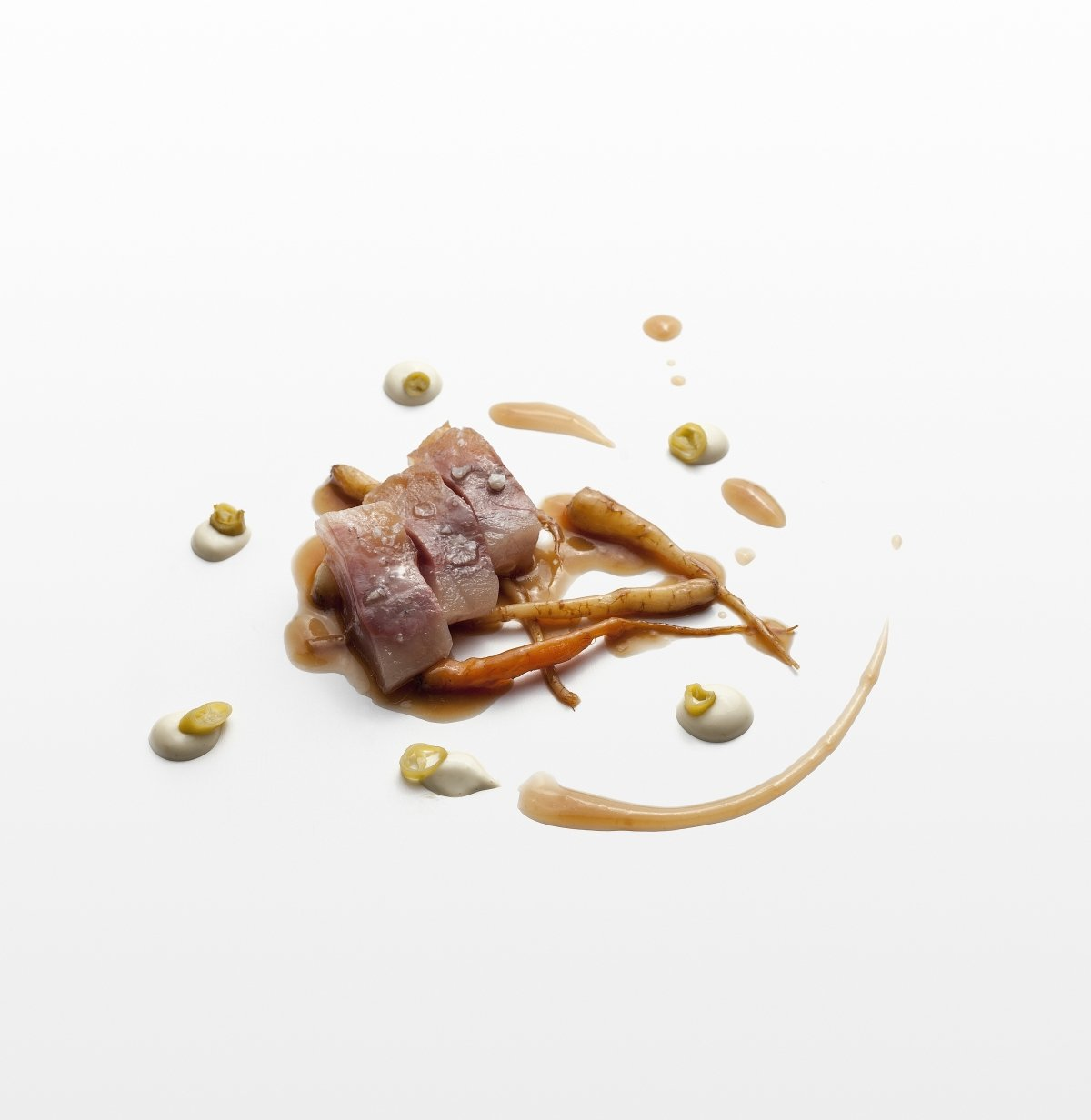 Un plato de carne del restaurante Casa Solla