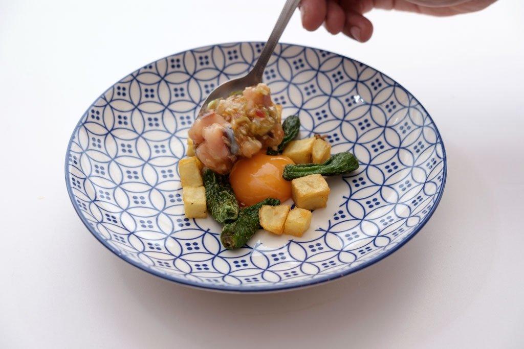 Un plato de corte tradicional del restaurante O Camiño do Inglés