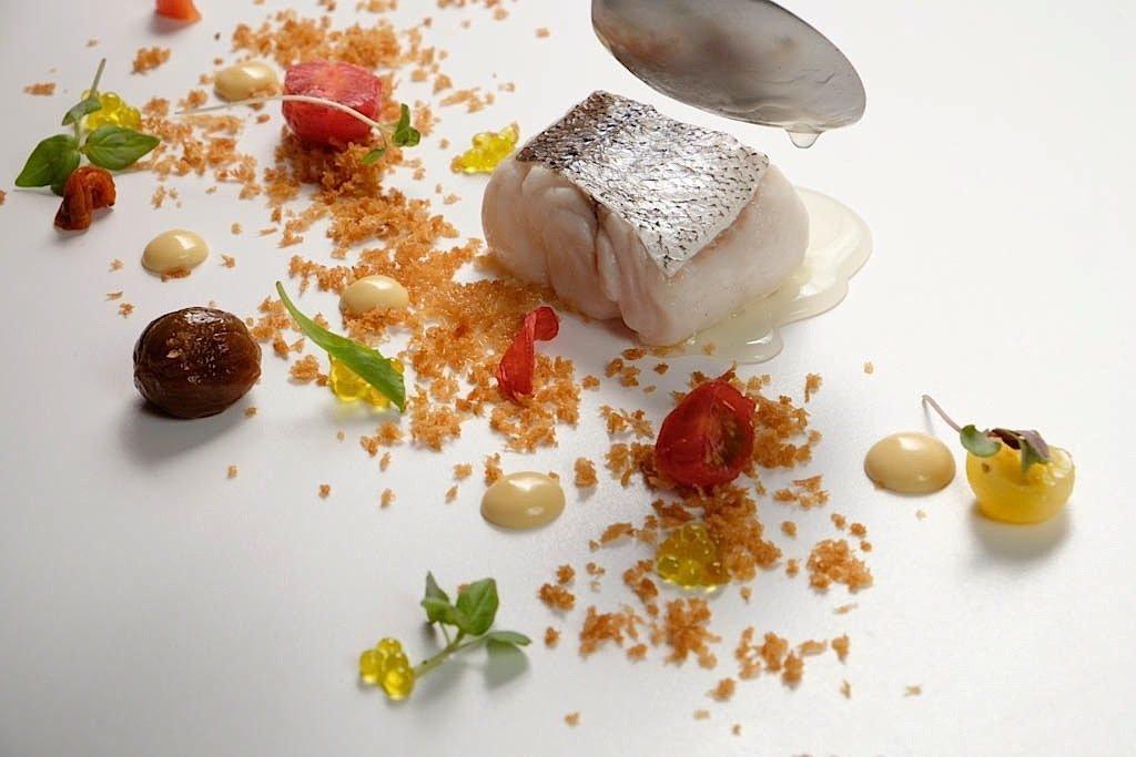 Un plato de pescado del restaurante Casa Solla
