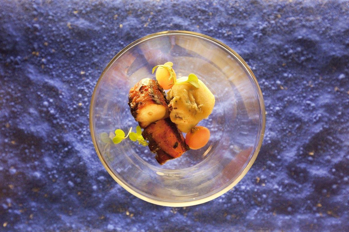 Un plato de pulpo en el restaurante El Serbal