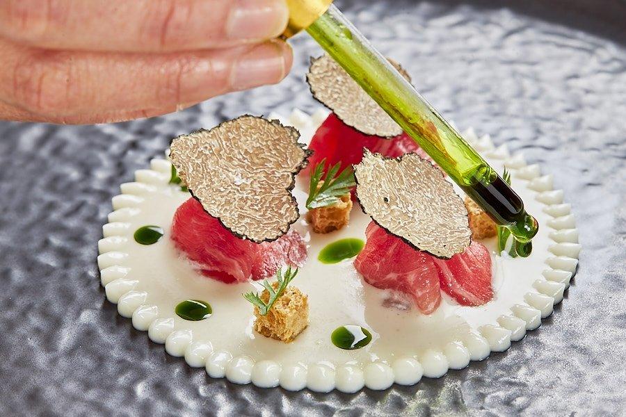 Un plato del restaurante LÚ