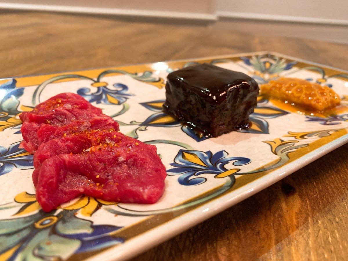 Un plato en varios pasos de Dama Juana