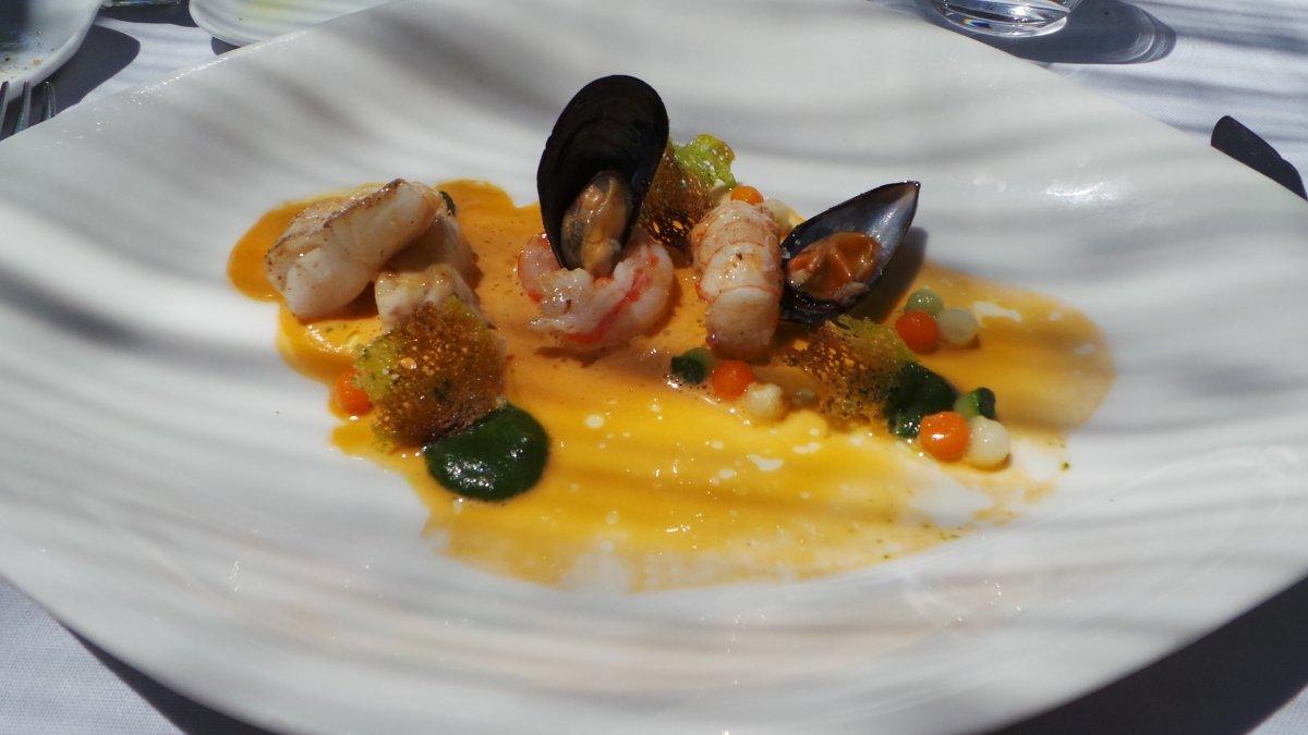 Un plato marino del restaurante Es Racó d'Es Teix