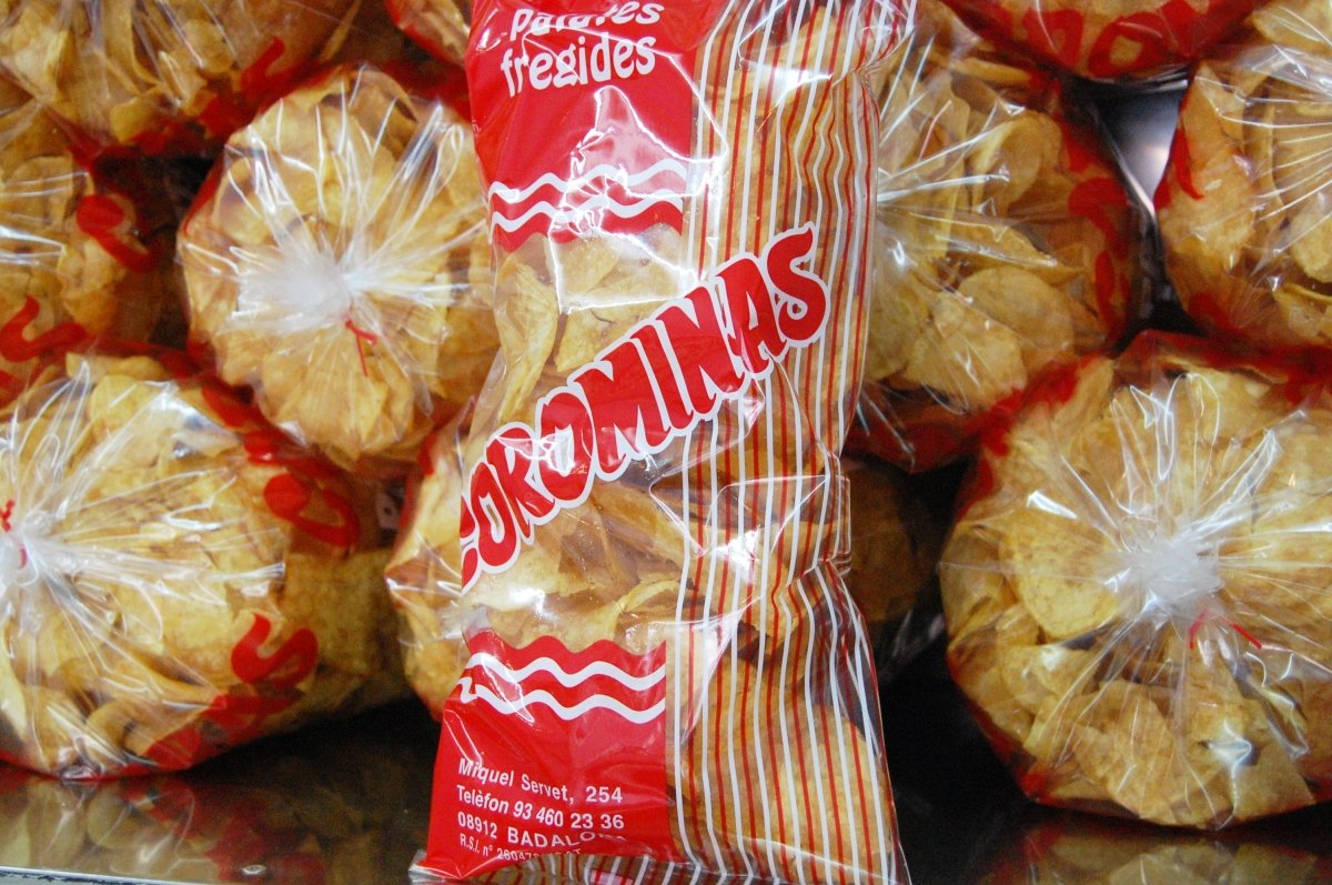 Una bolsa de patatas fritas Corominas