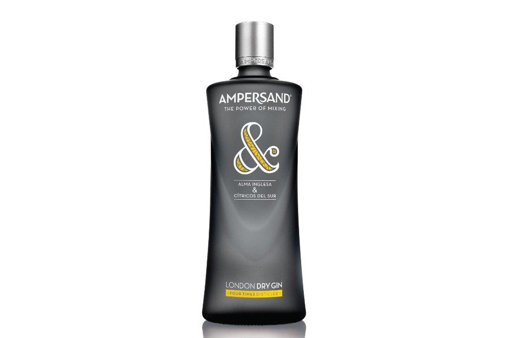 Una botella de la ginebra Ampersand