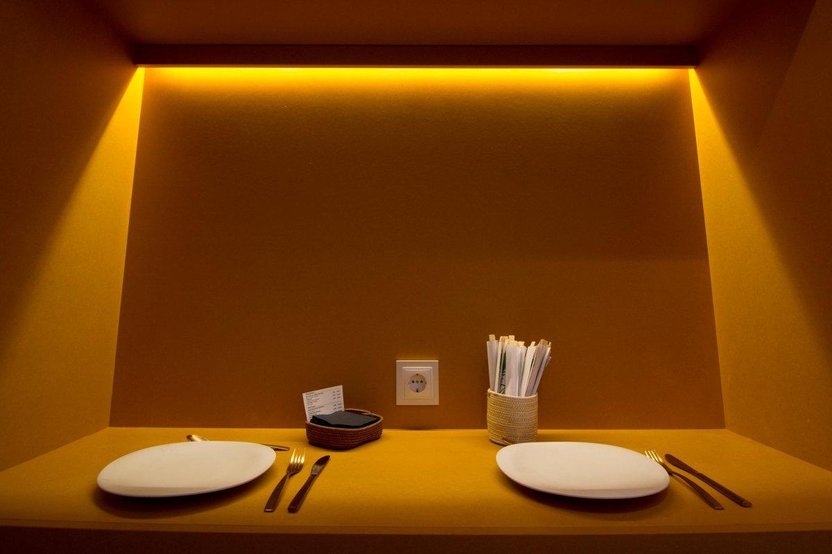 Una mesa de A Tafona
