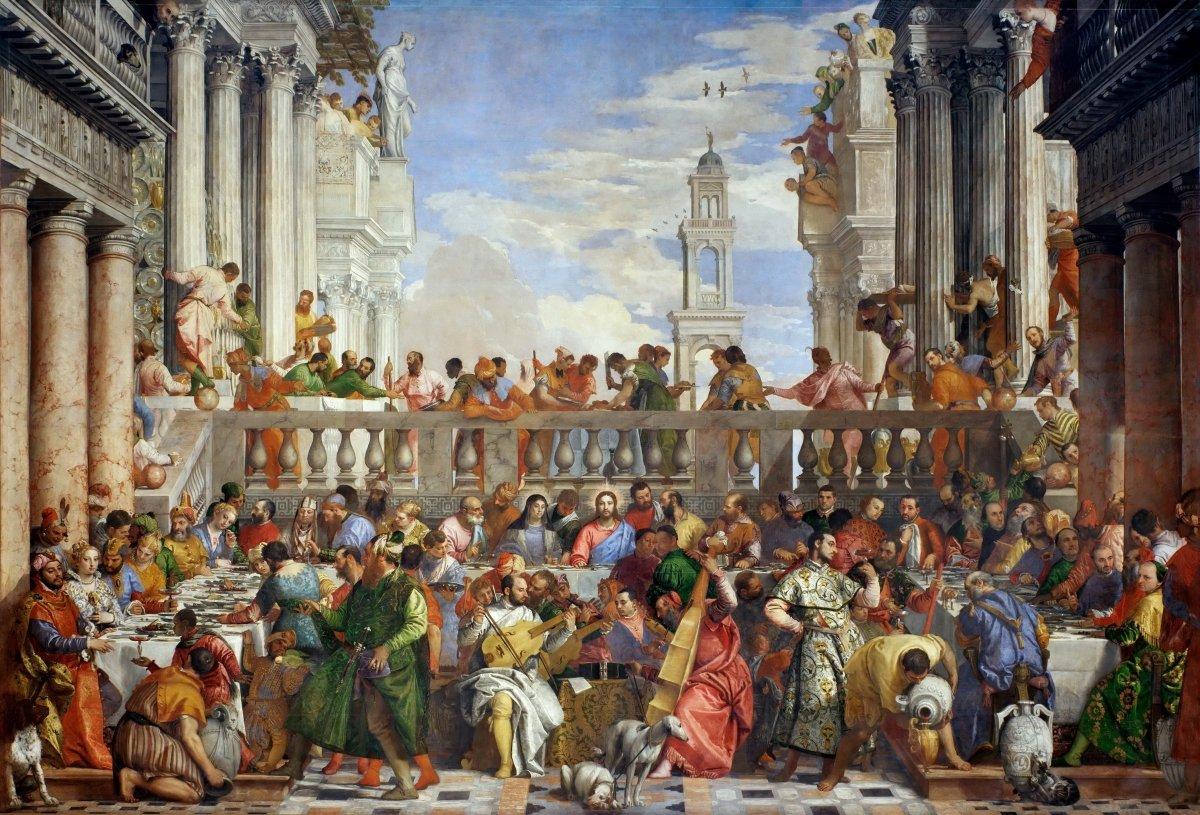 Una obra que representa las bodas de Caná