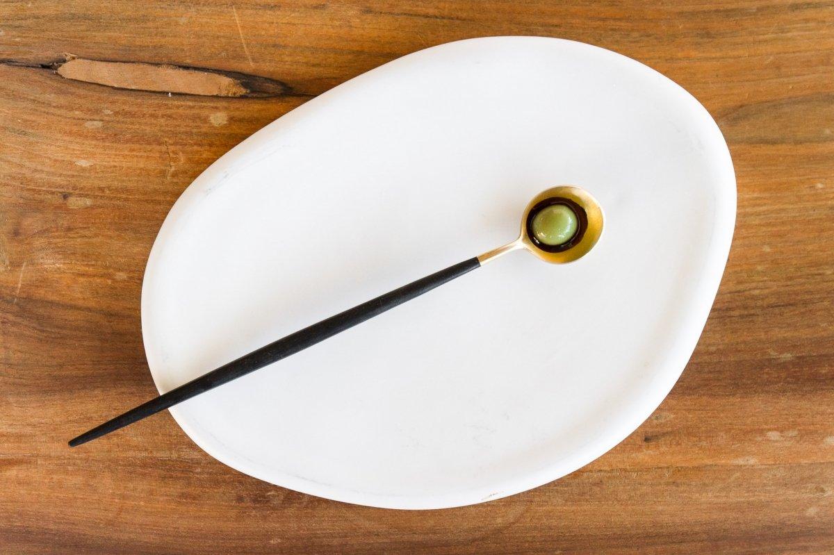 Una plato de aceituna del restaurante José Carlos García