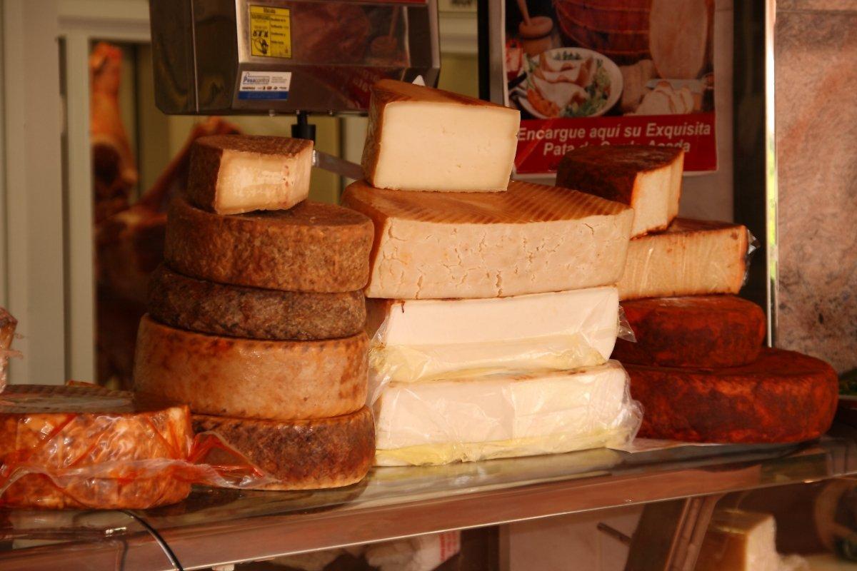Una tienda de quesos