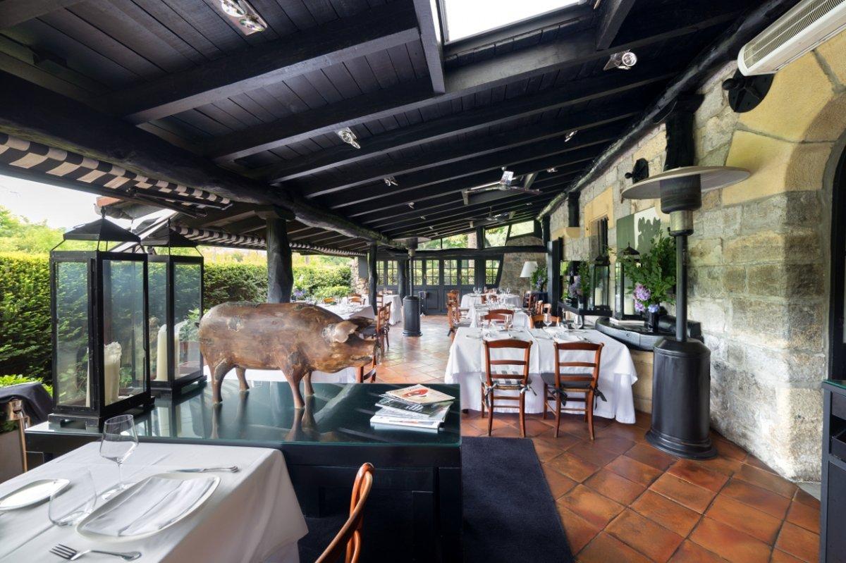 Uno de los espacios del restaurante Zuberoa