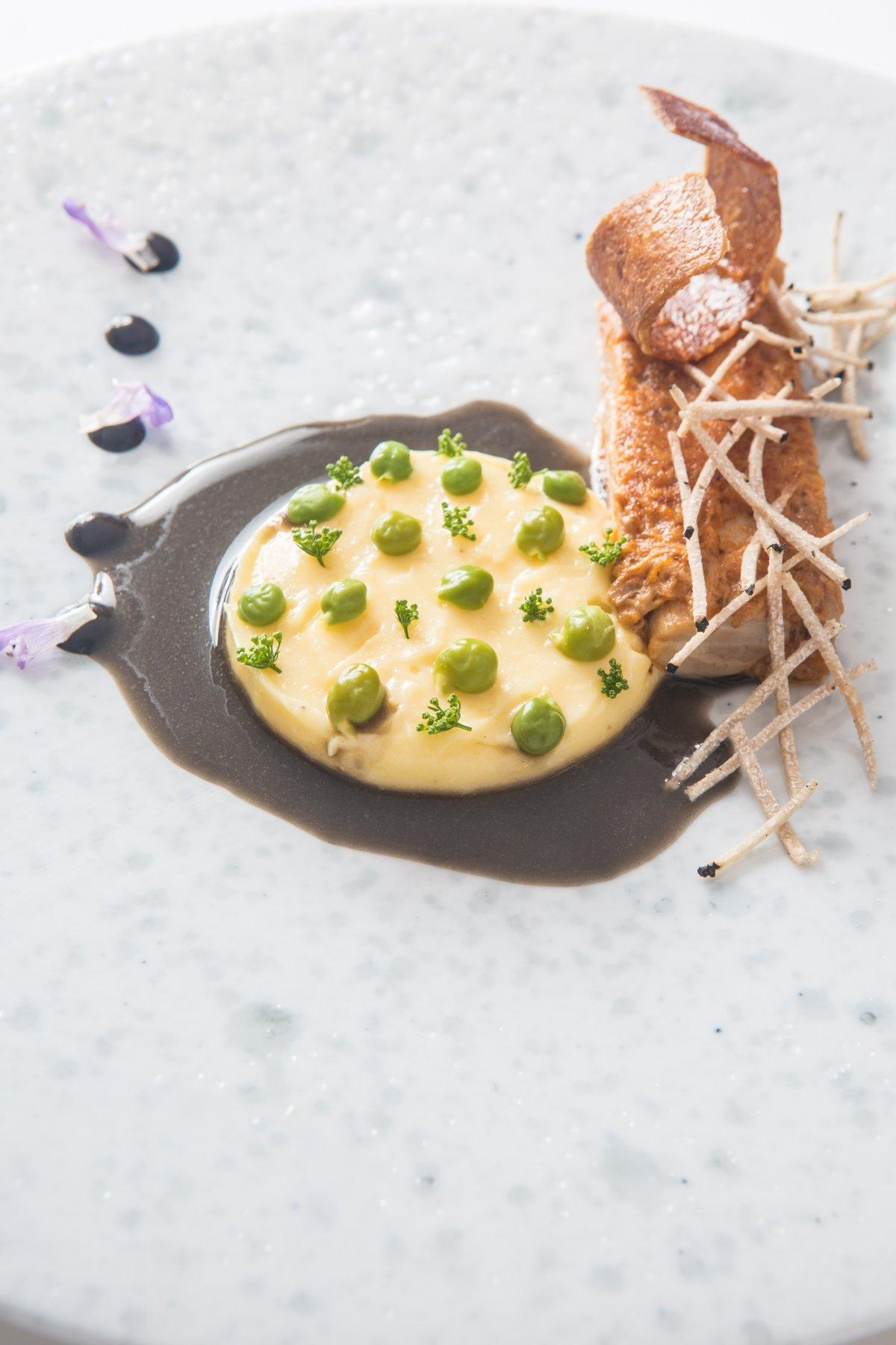 Uno de los platos creativos del restaurante Andreu Genestra