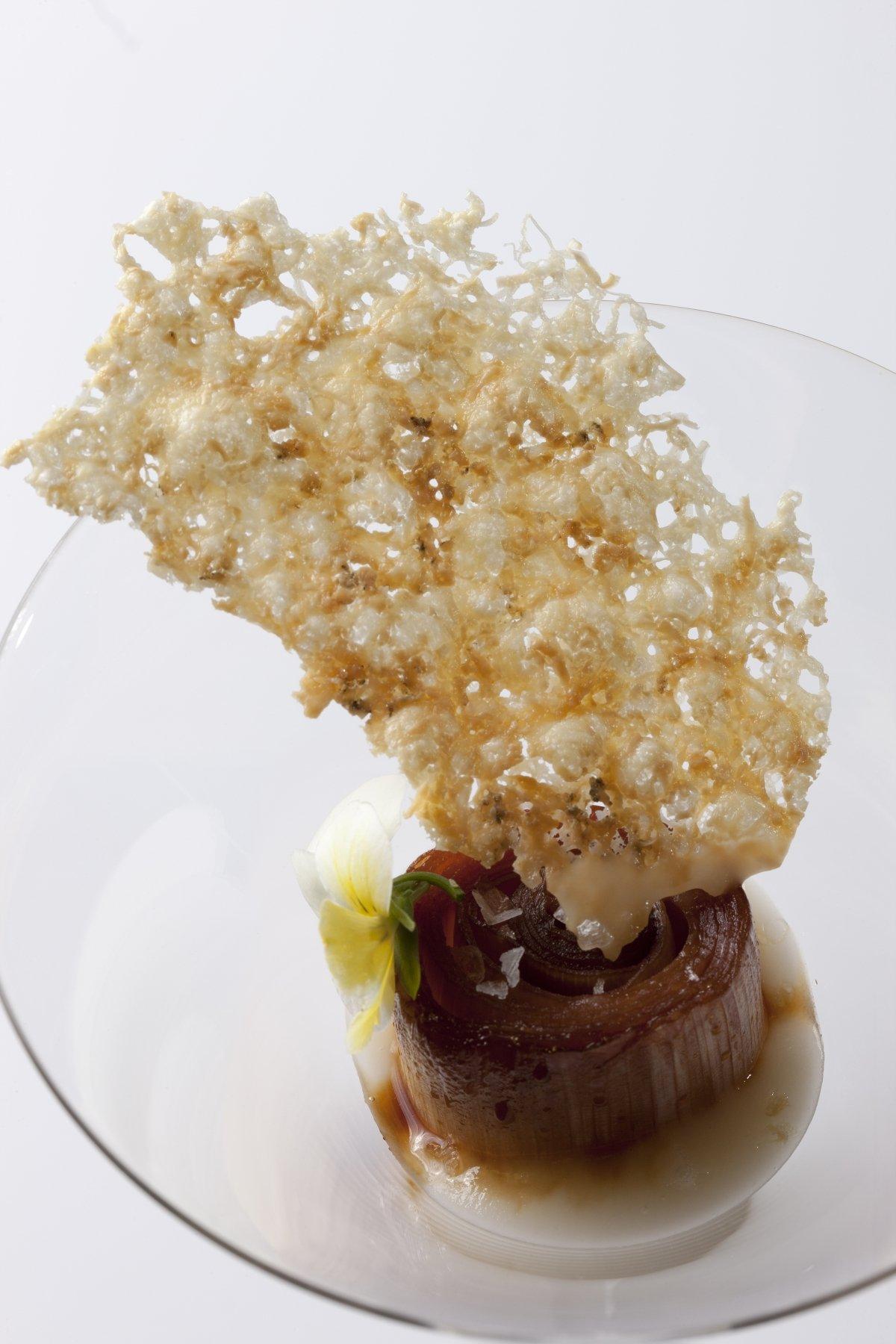 Uno de los platos creativos del restaurante Retiro da Costiña