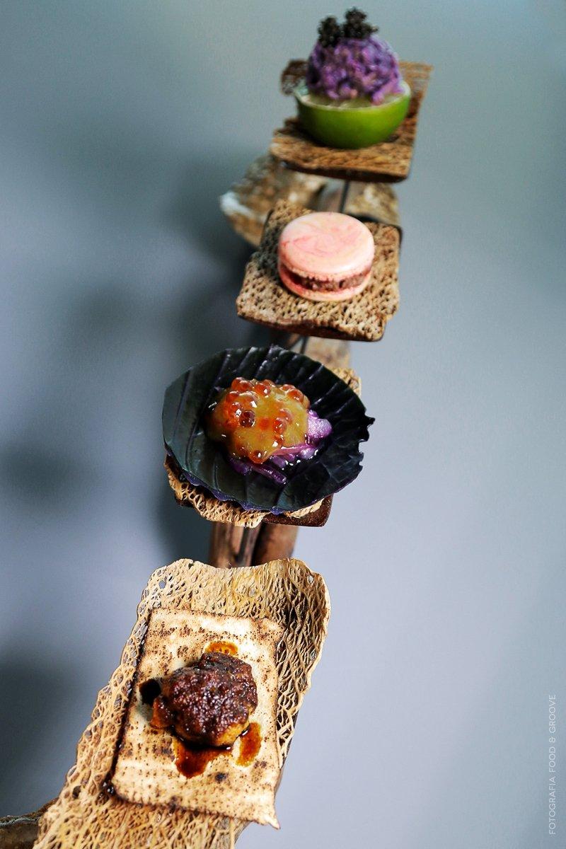 Varias creaciones del restaurante Sollo