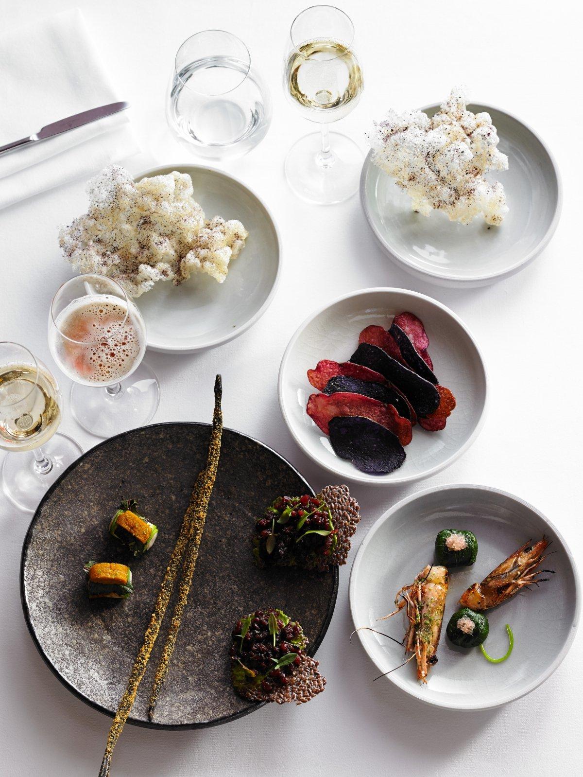Varios platos del restaurante Brae