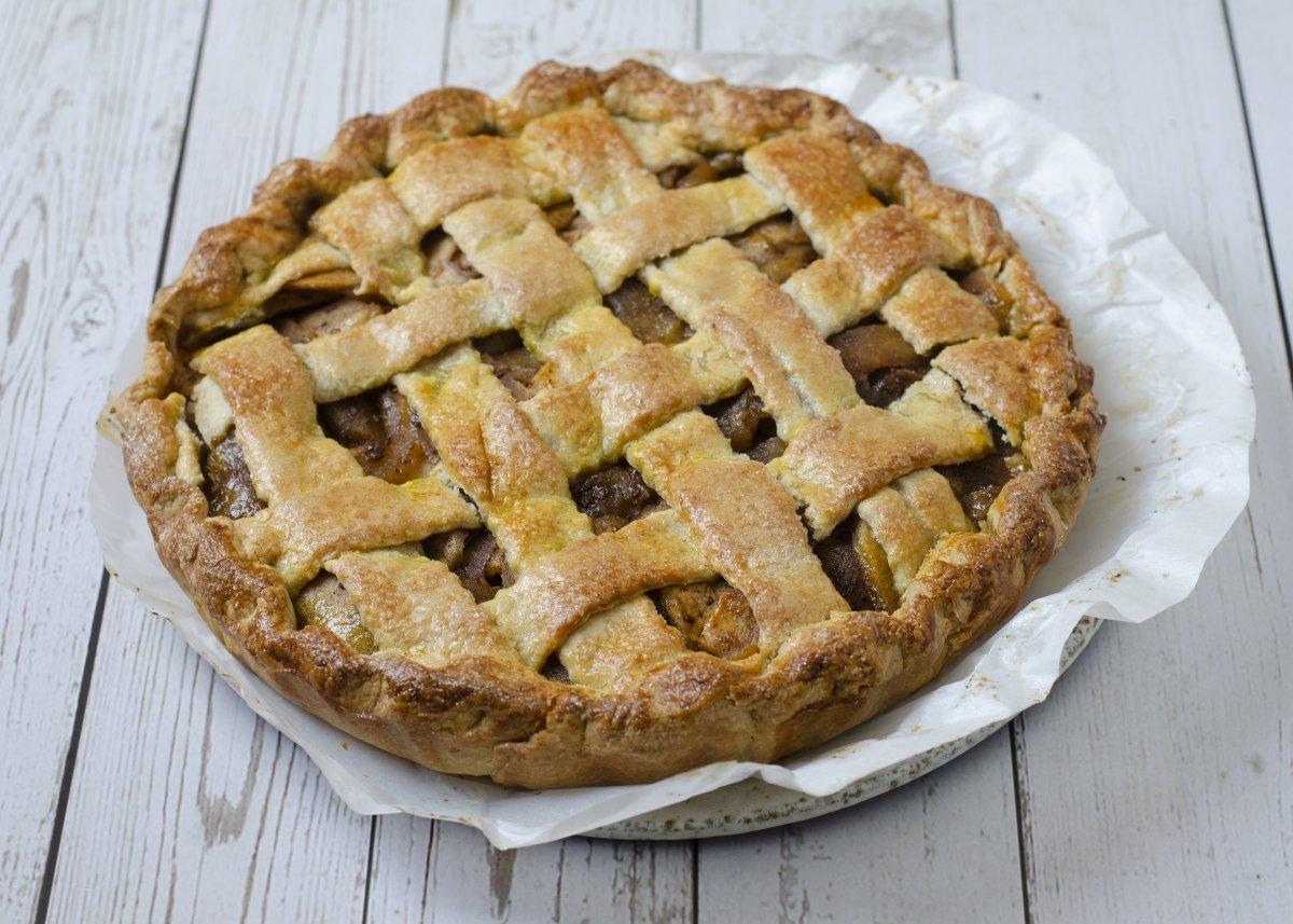 Vista cenital del apple pie