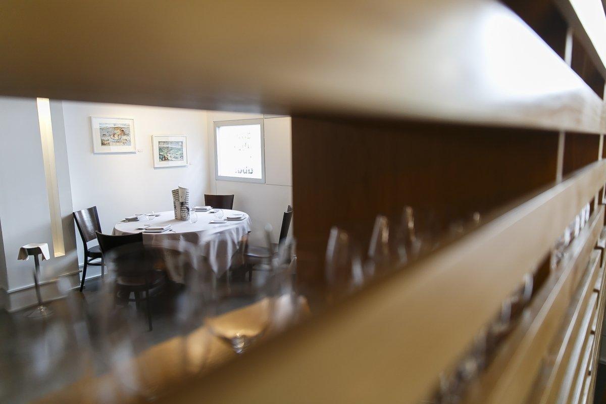 Vista parcial de la sala del restaurante Abantal