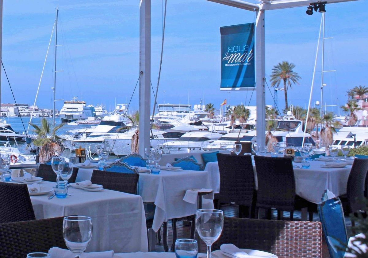 Vistas desde el restaurante Agua de Mar