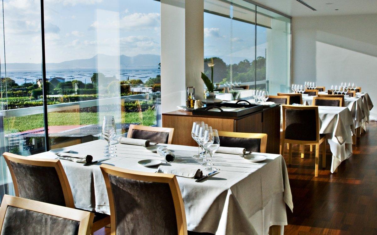 Vistas desde la sala del restaurante Culler de Pau
