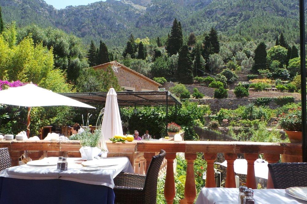 Vistas desde la terraza del restaurante Es Racó d'Es Teix
